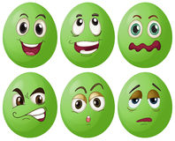 Green eggs Royalty Free Stock Image