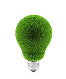 Green electric bulb Stock Images