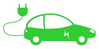 Green electric car concept Royalty Free Stock Photo