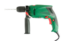 Green electric drill Stock Images