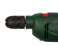 Green electric drill Stock Photo
