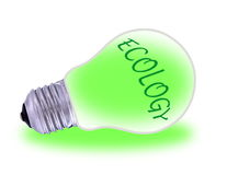 Green  electric energy from renewable sources Stock Photos