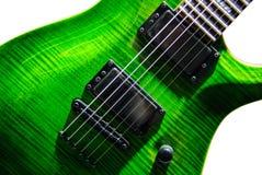 Green electric guitar stock photos