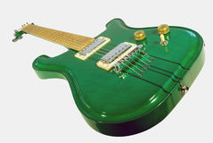 Green Electric Guitar Stock Image