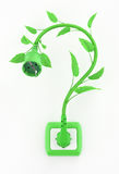 Green Electric Question Mark Royalty Free Stock Photos