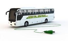Green electrical bus Royalty Free Stock Image