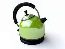 Green Electrical Kettle On White Background Royalty Free Stock Photos