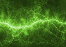 Green electrical lightning Stock Photos