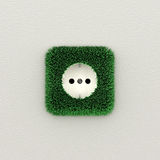 Green electrical outlet Royalty Free Stock Images