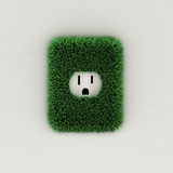 Green electrical outlet Stock Image