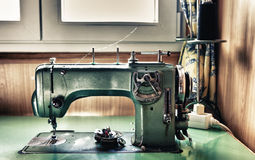Green electrical sewing machine Royalty Free Stock Photo