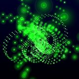 Green electronic background Royalty Free Stock Photos