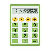 Green electronic calculator Royalty Free Stock Images