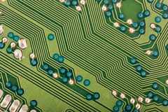 Green electronic circuit Royalty Free Stock Photo
