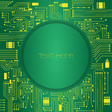 Green electronic circuit background Stock Photography