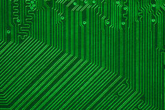 Green electronic circuit board Stock Photography