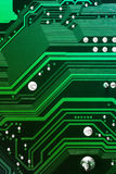 Green electronic circuit board. Green computer circuit board texture Stock Photography