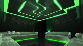 Green electronic luxury room Stock Images
