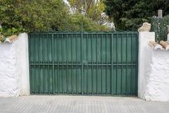 Green elegant entrance gate Royalty Free Stock Photography