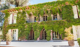 Green elegant house facade Stock Image