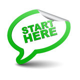 Green  element bubble start here Royalty Free Stock Photography
