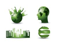 Green elements Stock Image