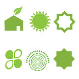 Green elements. Abstract eco and green elements Royalty Free Stock Photos