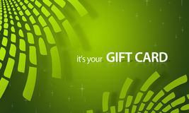 Green Elements Gift Card Royalty Free Stock Image