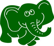 Green elephant Royalty Free Stock Photography