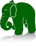 Green Elephant Royalty Free Stock Images