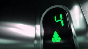 Green Elevator digits. stock video