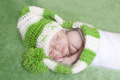 Green elf baby Stock Photo