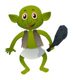Green elf with hammer. Illustration Royalty Free Stock Image