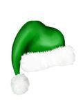 Green Elf Hat. A digitally painted green elf hat for the Holiday Seasons Stock Image
