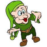 Green Elf Pointing Stock Photography