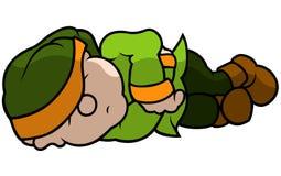 Green Elf Sleeping Royalty Free Stock Image