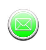 Green Email Button Royalty Free Stock Photos