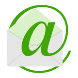 The green email Royalty Free Stock Photography