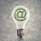 Green email symbol Royalty Free Stock Photos