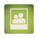 green emblem people picture icon Stock Image