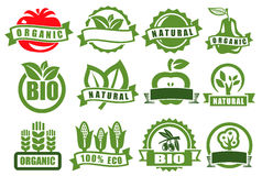 Green emblems of eco Stock Photo