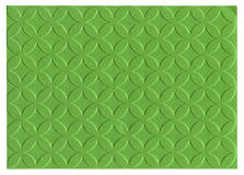 Green embossed paper. Isolated on white background Royalty Free Stock Photo