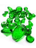 Green emerald gem stones crystals Stock Images