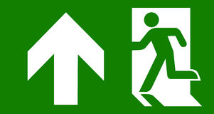 Green emergency exit Royalty Free Stock Photography