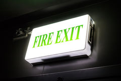 Green emergency exit Royalty Free Stock Image