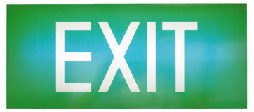 Green emergency exit sign Royalty Free Stock Images
