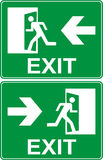 Green emergency exit sign. Vector Royalty Free Stock Photo