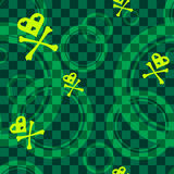 Green Emo seamless pattern with circles Stock Photos