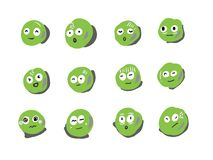 Green emoticon style. Green bubble emoticon style for you Royalty Free Stock Images
