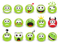 Green emoticons Royalty Free Stock Photos